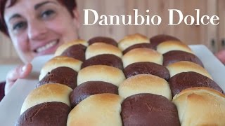 DANUBIO DOLCE AI DUE CIOCCOLATI Ricetta Facile -Two Color Bread Brioche Easy Recipe