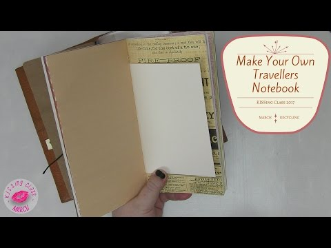 How to Make Your Own Travelers Notebook or A5 Journal from Recycled Materials | Simple but it works!
