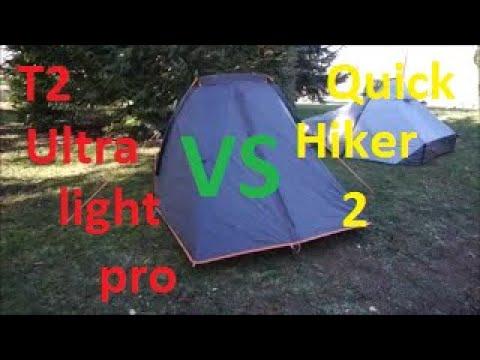 ff2d2f0fe Test Tentes-Quick Hiker 2 Ultralight vs T2 Ultralight Pro - YouTube