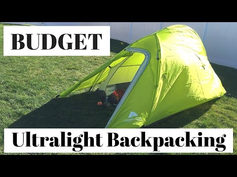 Budget Solo Ultralight Full Fly Backpacking Tent | Ozark Trail REVIEW