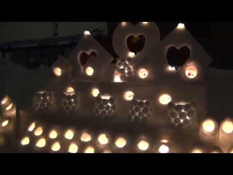 12万本の灯が照らす 小樽雪あかりの路開幕