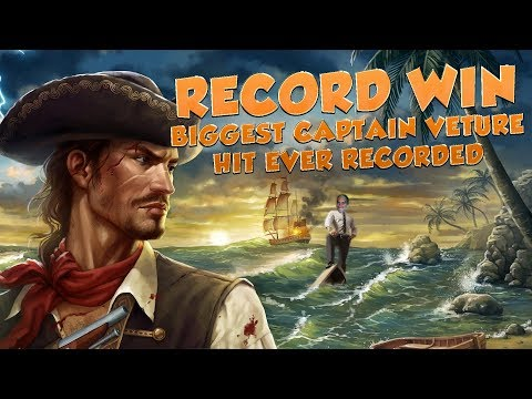 BIG WIN!!!! Captain Venture - RECORD WIN - Casino Games - bonus round (Casino Slots)