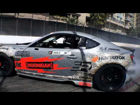 Tony Angelo Doing Donuts at Round 1 of Formula Drift 2014