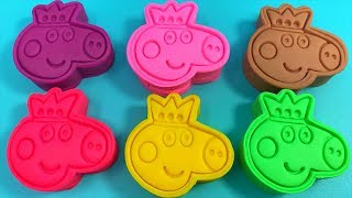 Learn Colors with 6 Color Play Doh PJ Masks My Little Pony Surprise Toys Peppa Pig Kinder Joy