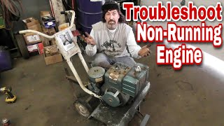 How To Troubleshoot A Non-Running Engine (1974 Sears Rototiller) with Taryl