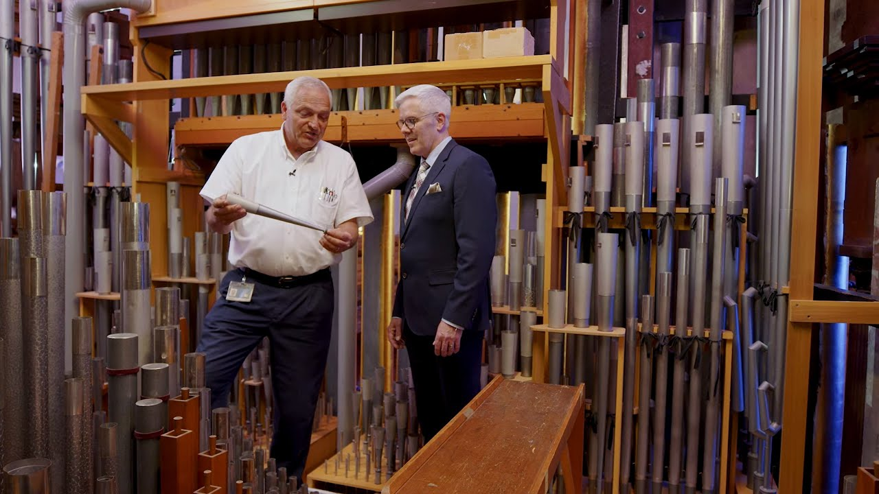 Piping Up! Backstage: Tour of Tabernacle Organ w/ the Organ Technician