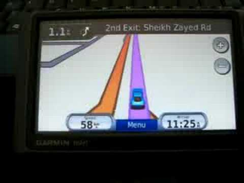 Nuvi GPS on Dubai Roads