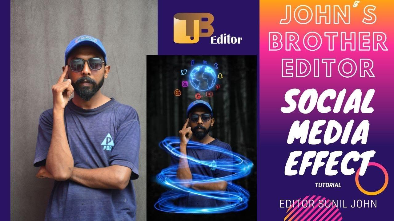 Photoshop - Glowing Social Media Effect | Creative Photo Manipulation