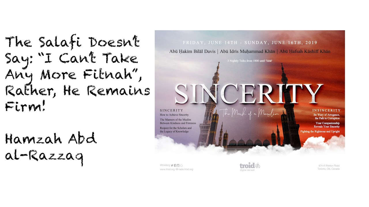 "The Salafī Doesn't Say: ""I Can't Take Any More Fitnah"", Rather, He Remains Firm!"
