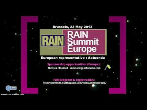 RAIN Summit Europe ONLINE RADIO Pgr 23 May 2013 Brussels (by Actuonda)