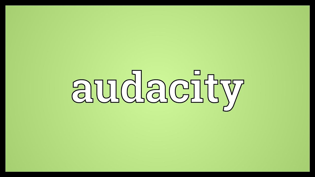 Audacity meaning youtube for What does tce mean