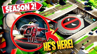 *NEW* DISCOVERING SEASON 2 DEADPOOL *HELICOPTER* LOCATION IN-GAME! (Battle Royale)
