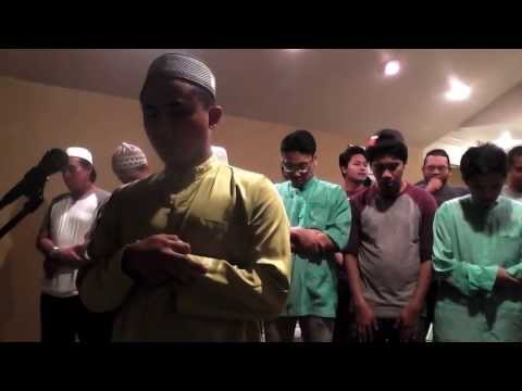 Taraweeh (1/2) - Malaysian students in California, surah ar-Rad, Ramadhan 2013