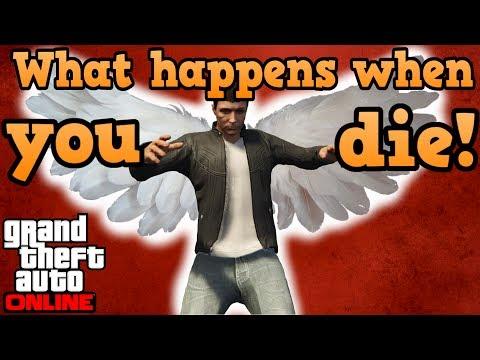 What happens when you die in GTA online?