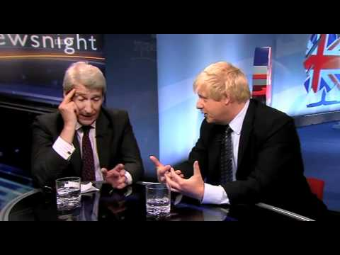 Jeremy Paxman interviews Boris Johnson at the Tory Party Conference