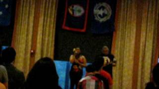 me and ray singing the cnmi anthem at the uw su fiesta