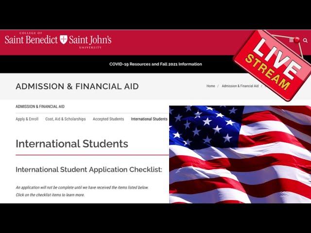 Saint Benedict/Saint John's University MN (Scholarships for international students in the USA)
