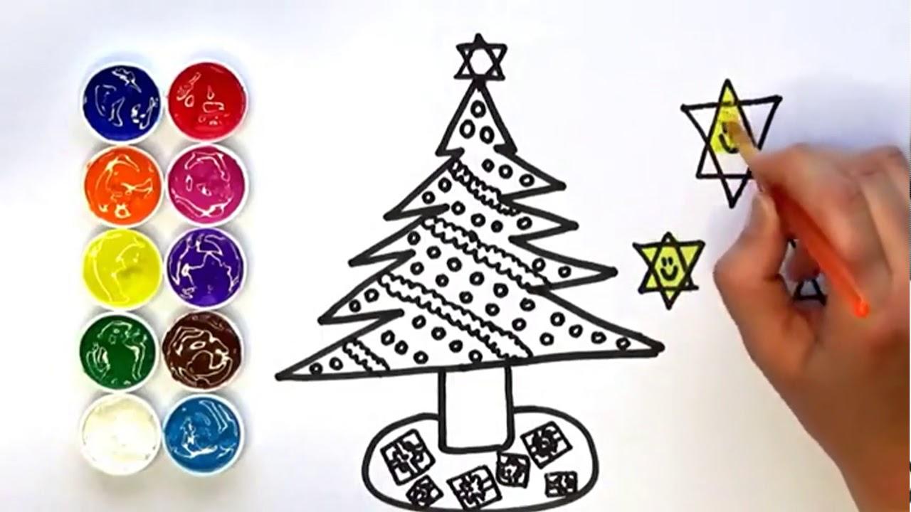 Dibujar Y Colorear Un Pino De Navidad Dibujos Para Niños