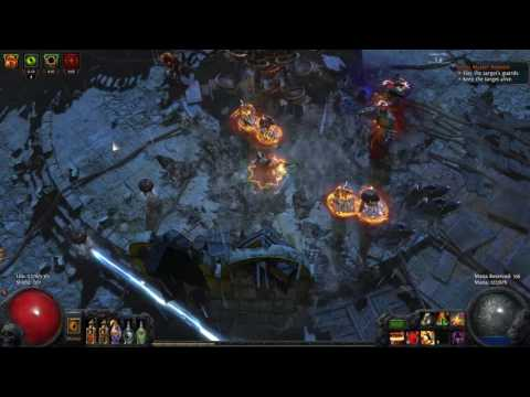Path of Exile Prophecy - Palace Double Dom Fight - 3 Curse + Bleed + Poison Earthquake Berserker