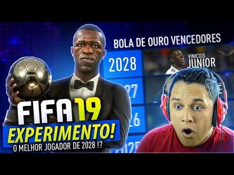 Simulei Os VENCEDORES Da BOLA DE OURO! (2019-2033) FIFA 19 EXPERIMENTO!!