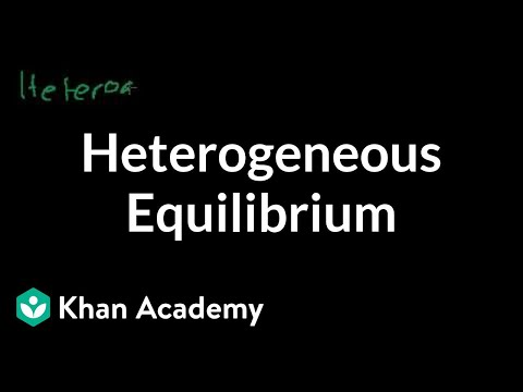 Heterogeneous equilibrium | Chemical equilibrium | Chemistry | Khan Academy