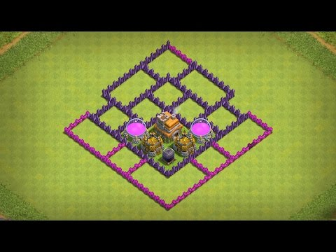 Clash of Clans - BEST TH7 FARMING BASE *3 AIR DEFENCE UPDATE*