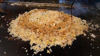 거대한 철판 계란 볶음밥 egg fried rice - taiwanese street food