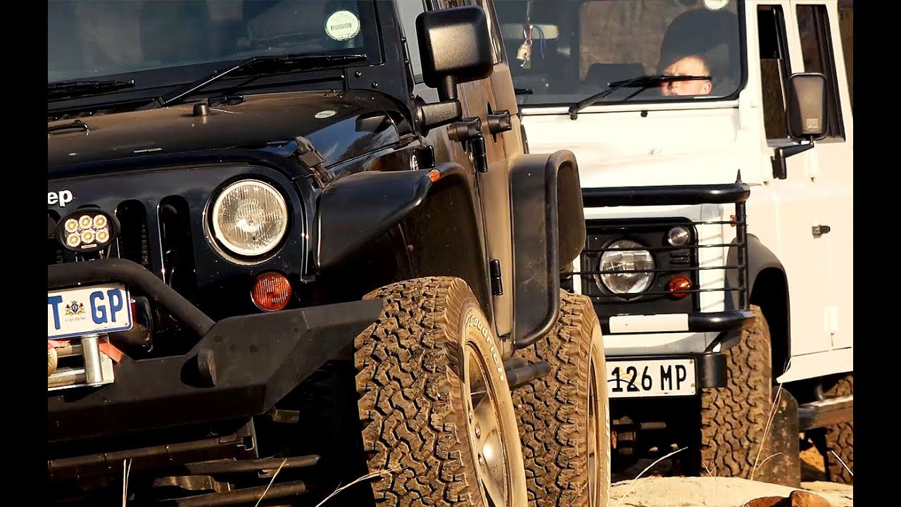 Land Rover Vs Jeep >> Land Rover Defender Versus Jeep Wrangler Rubicon Youtube