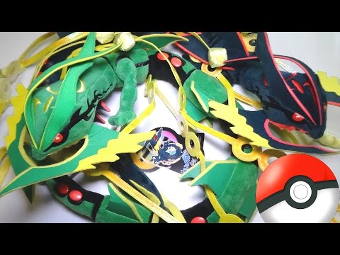 MEGA RAYQUAZA Plushies, Green And SHINY Pokémon Center Stuffed Animals!