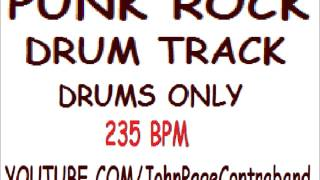 PUNK ROCK BACKING DRUM TRACK FREE DRUMS ONLY Full Length Song