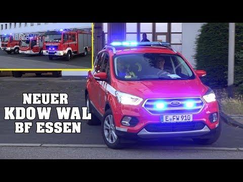 *8 Fire Trucks AT ONCE* [Essen Fire Dept.] - Huge Fire-Convoy responding to a FIRE!