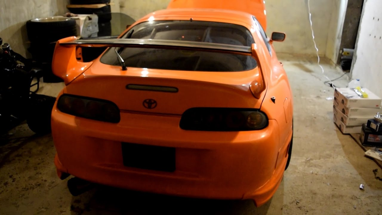 008c5c4016 Orange Toyota Supra start up - YouTube