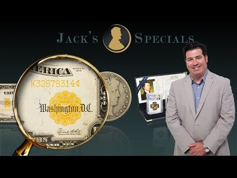 Jack's Specials: 1922 Large Size Gold Certificate and more!