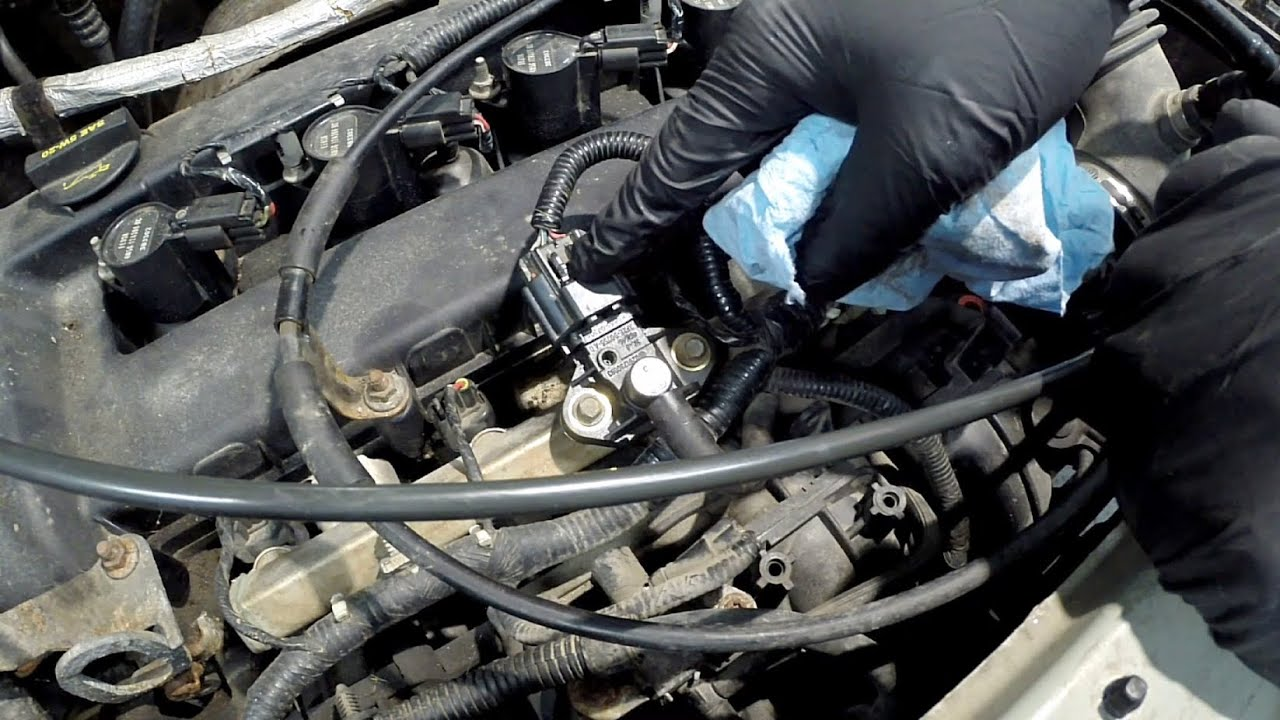 ford vehicles: fuel rail pressure sensor replacement p0191 - youtube