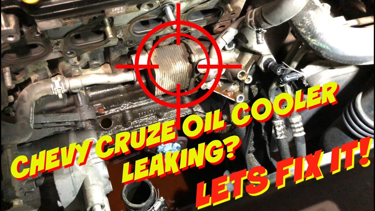 chevy cruze oil cooler seals gaskets replacement oil leak fix burned oil smell [ 1280 x 720 Pixel ]