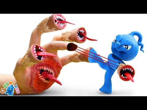Siren Head Hand - Clay Mixer Stop Motion Animation