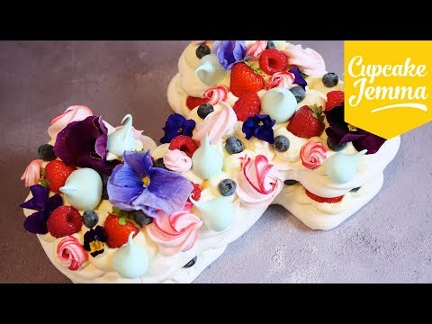 How to Make a Pretty Pavlova Letter Cake   Cupcake Jemma