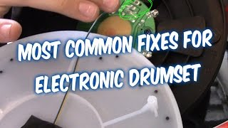 How to fix electronic drums set drum pad triggers and pedal on Alesis drumset service guide