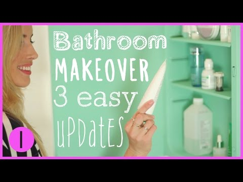 HOW TO: DIY BATHROOM MAKEOVER 1 | Eliminate Common Bathroom Eyesores