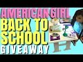 American Girl Back to School Giveaway