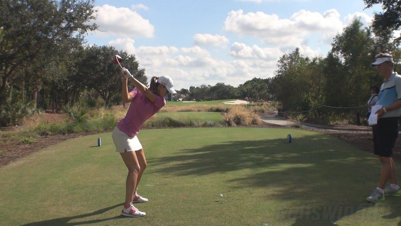 Michelle Wie Ball Flight Dtl Driver Golf Swing Late 2013