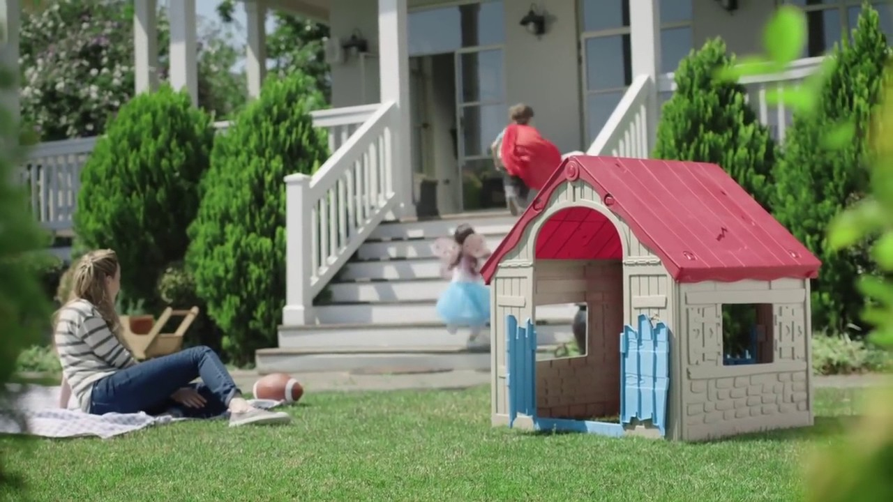folding playhouse the wonderfold keter easy to fold children s