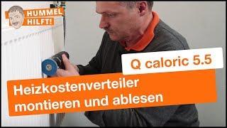 QUNDIS Heizkostenverteiler montieren und ablesen (Plattenheizkörper)