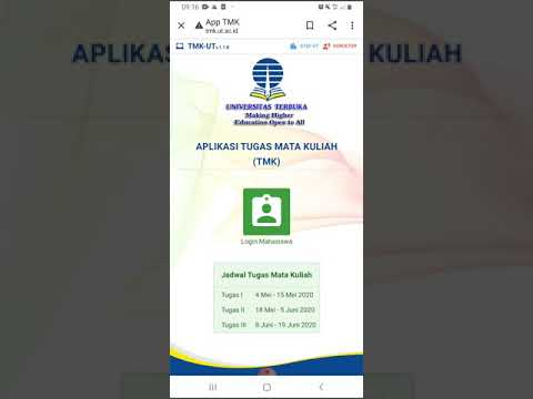 Cara Unggah Atau Kirim TMK (tugas Mata Kuliah) Universitas Terbuka Via Android Link Tmk.ut.ac.id