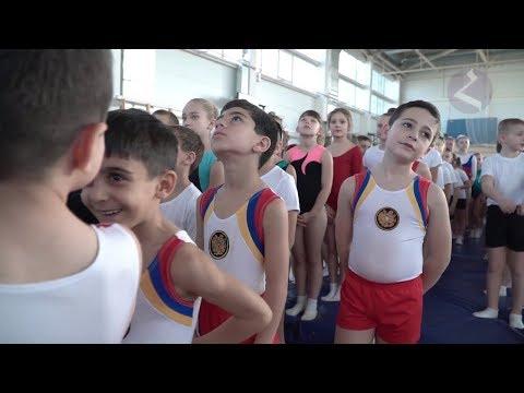 Юные армянские батутисты в Краснодаре. Новостной сюжет.