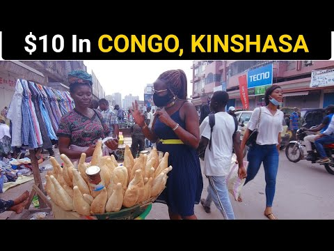 What Can $10 Get In CONGO, KINSHASA( Most Expensive City In Africa)