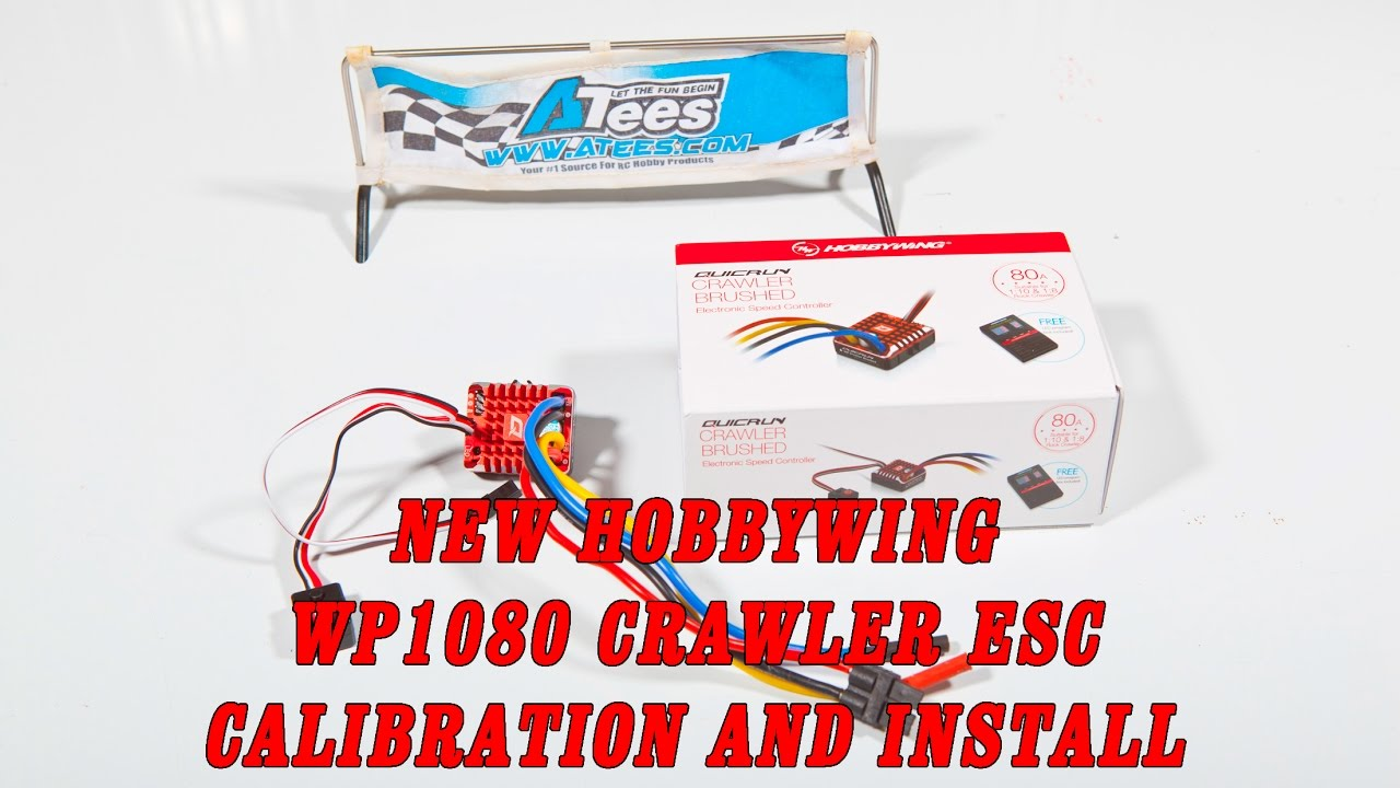 Hobbywing WP1080 crawler specific esc calibration and setup