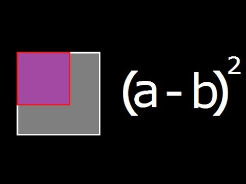 (a - b)^2 - Geometrical explanation and Derivation of a minus b whole square