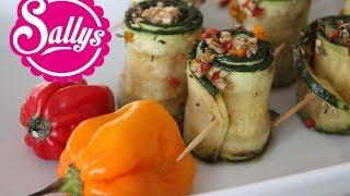 Fingerfood: Zucchiniröllchen mit Schafskäse / Silvester / Buffet / vegetarisch / Sallys Welt