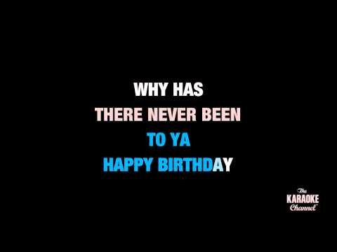 "Happy Birthday in the Style of ""Stevie Wonder"" karaoke video lyrics (with lead vocal)"